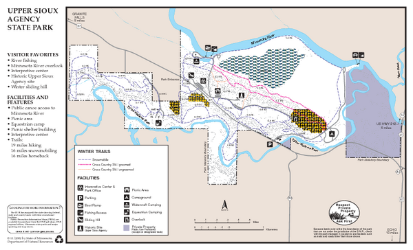 Upper Sioux Agency State Park Winter Map