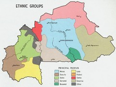 Upper Volta Ethnic Groups Map