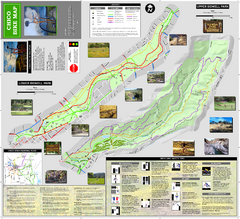 Upper and Lower Bidwell Park Bike Map