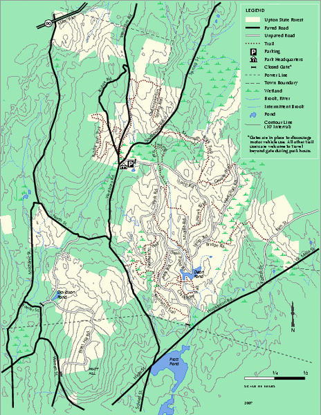 Upton State Forest trail map