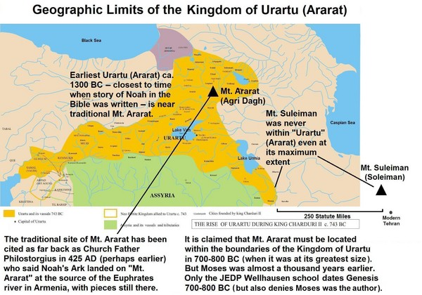 Urartu And Mount Ararat Map