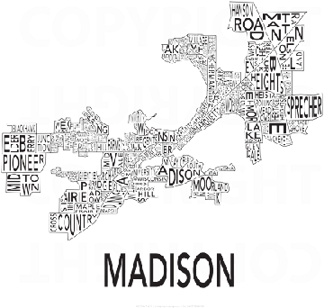 Urban Neighborhood Map Madison Map Madison WI mappery
