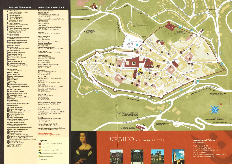 Urbino map see map details