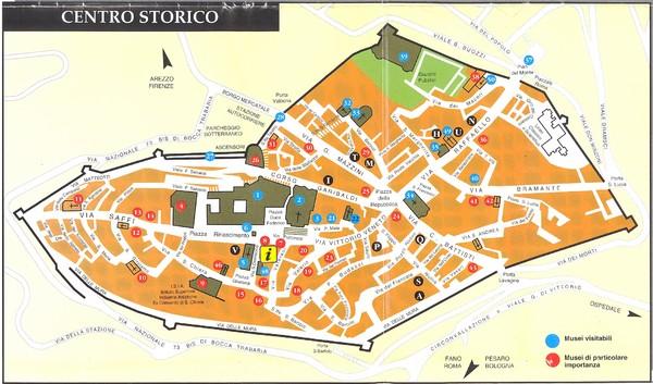 Fano beach suburbs Map Fano Italy mappery
