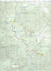 Urique to Los Alisos Trail Map