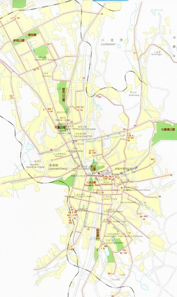 Urumqi City Map