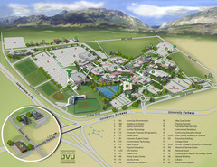 Utah Valley University Map