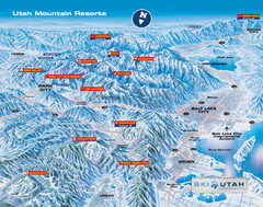 Utah mountain resorts Map