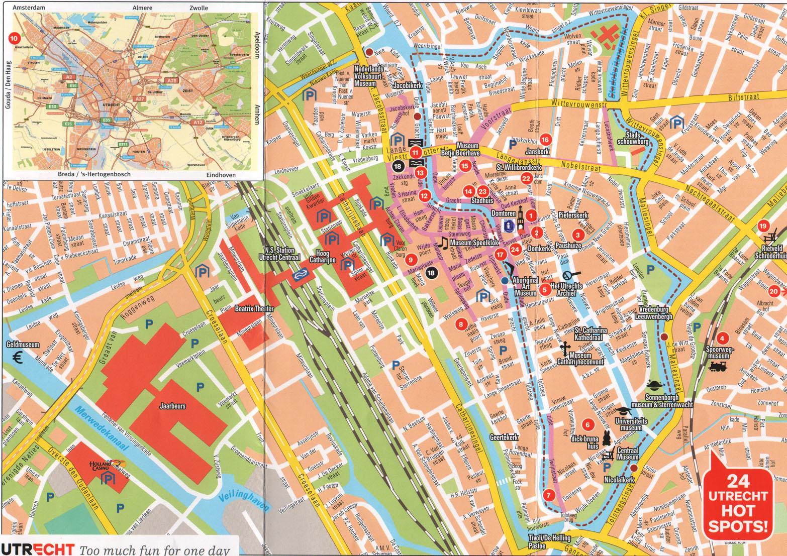 Utrecht Map utrecht mappery