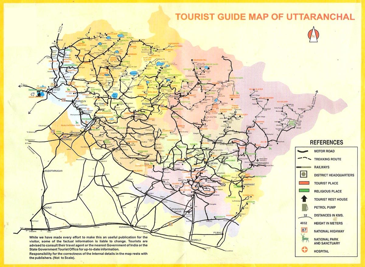 Uttarakhand Political Map - Political Map of Uttarakhand Guide