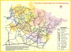 Uttarakhand Tourist Map