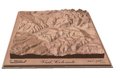 Vail, Colorado carved by carvedmaps.com Map