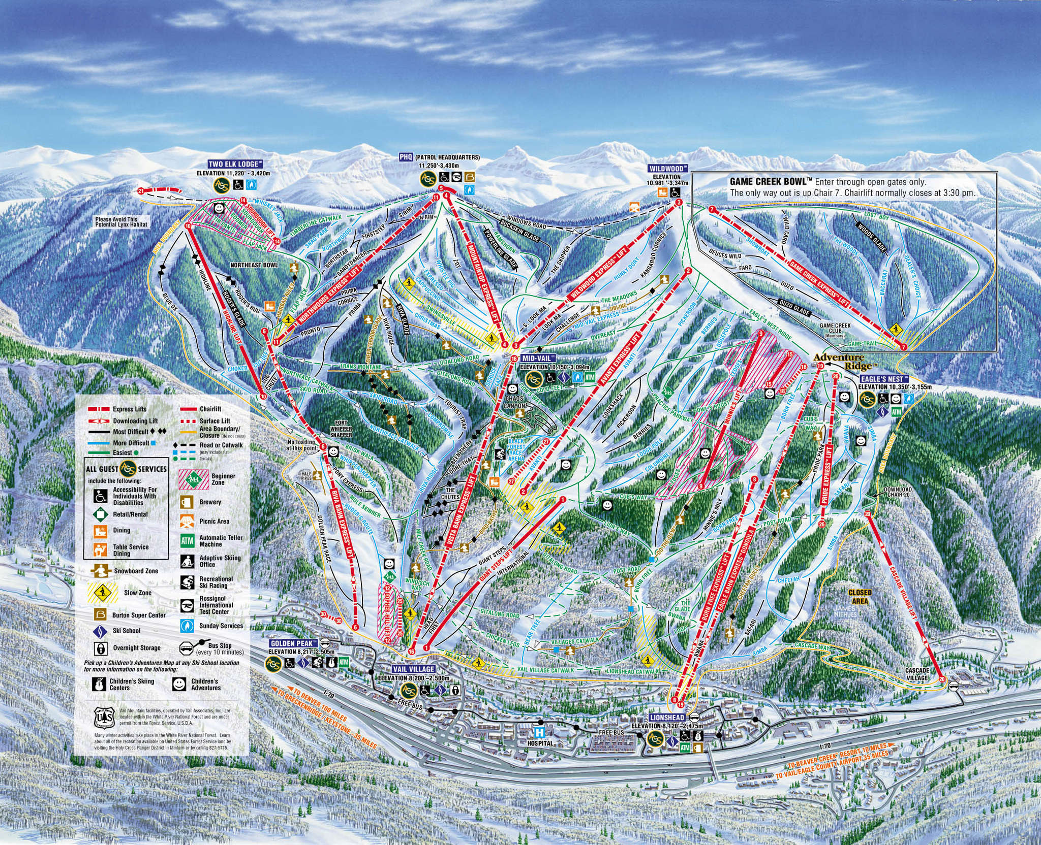 . vail map  vail co • mappery