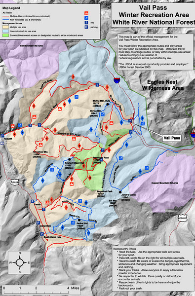 Vail Pass Area Recreation map - E Vail CO • mappery
