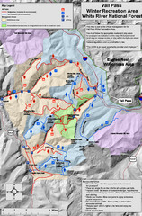 Vail Pass Area Recreation map