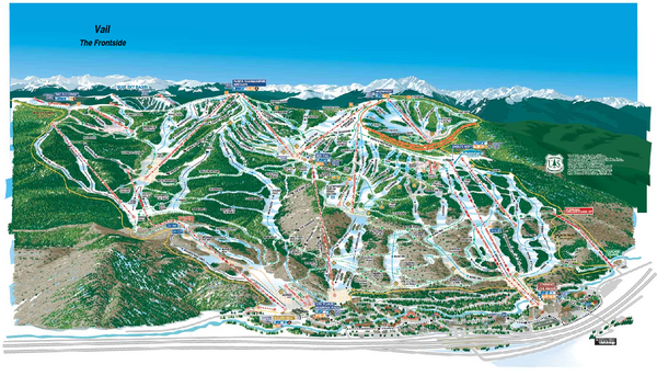 Trail map from Vail,