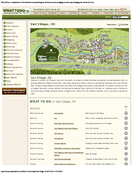 Vail Village Maps Map Vail Village Mappery