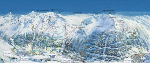 Val Cénis Ski Trail Map