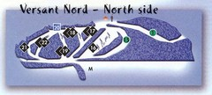 Val D'Irene North Side Ski Trail Map