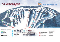 Val Neigette Ski Trail Map