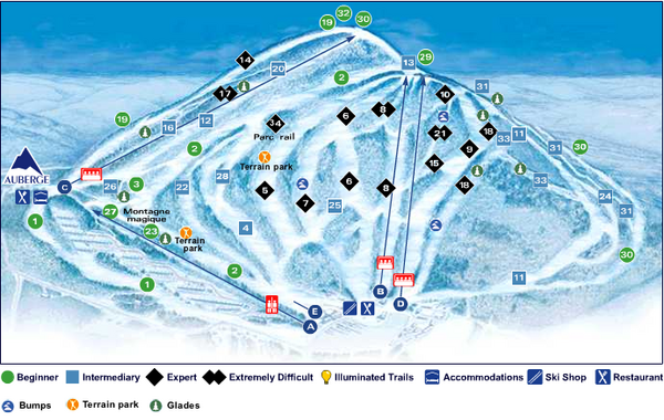 Val Saint-Come Ski Trail Map