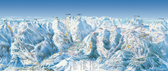 Val d'Allos—La Foux Ski Trail Map