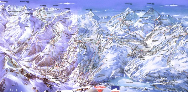Val dIsere Map Val d039Isere France mappery