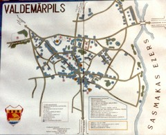 Valdemarpils Tourist Map