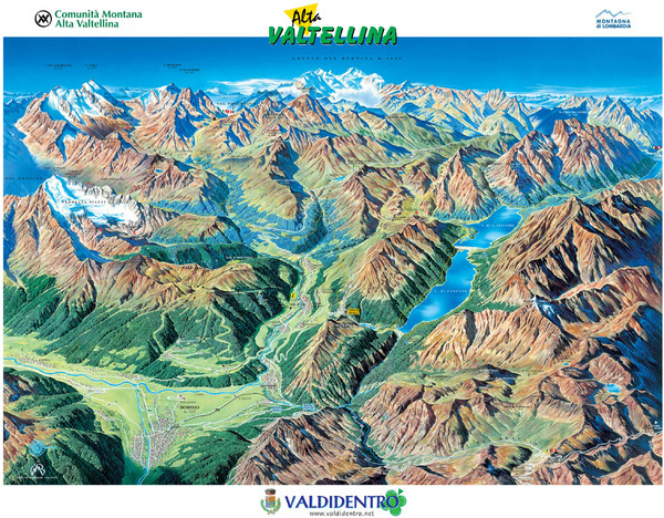 Valdidentro Alta Valtellina Summer Map
