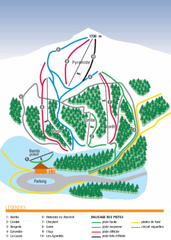 Valdrôme Ski Trail Map
