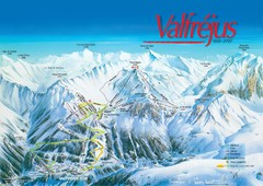 Valfréjus Ski Trail Map