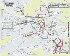 Valladolid Bus Map