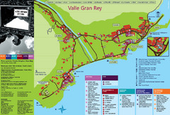 Valle Gran Rey Gomera Tourist Map