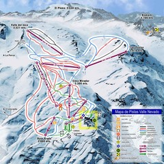 Valle Nevado Ski Resort Trail Map