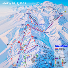 Valle Nevado Ski Trail Map
