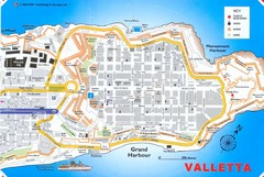 Valletta Tourist Map