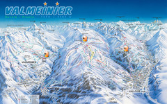 Valloire Vallorie and Valmeinier Ski Trail Map