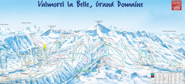 Valmorel Valmorel Ski Trail Map