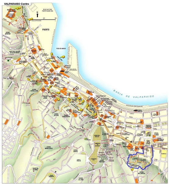 Valparaiso Tourist Map