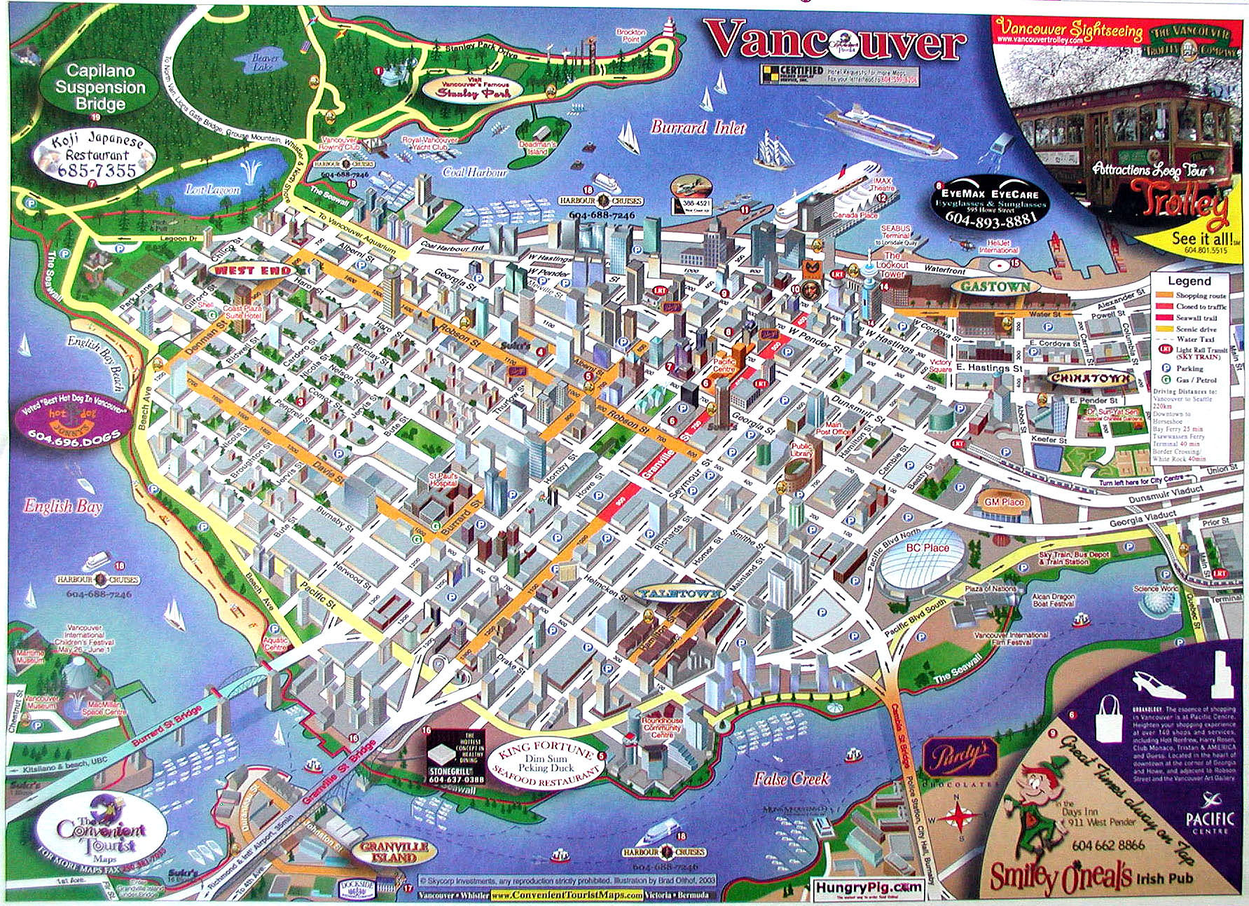 Vancouver Downtown Map - Vancouver BC • mappery