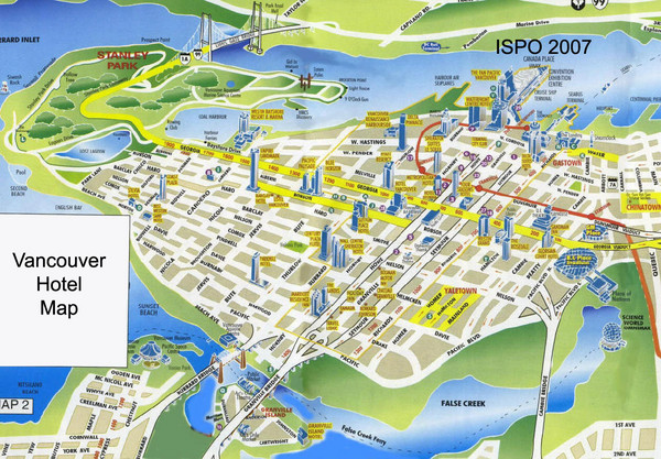Vancouver Tourist Map Vancouver BC Canada mappery – Vancouver Tourist Attractions Map