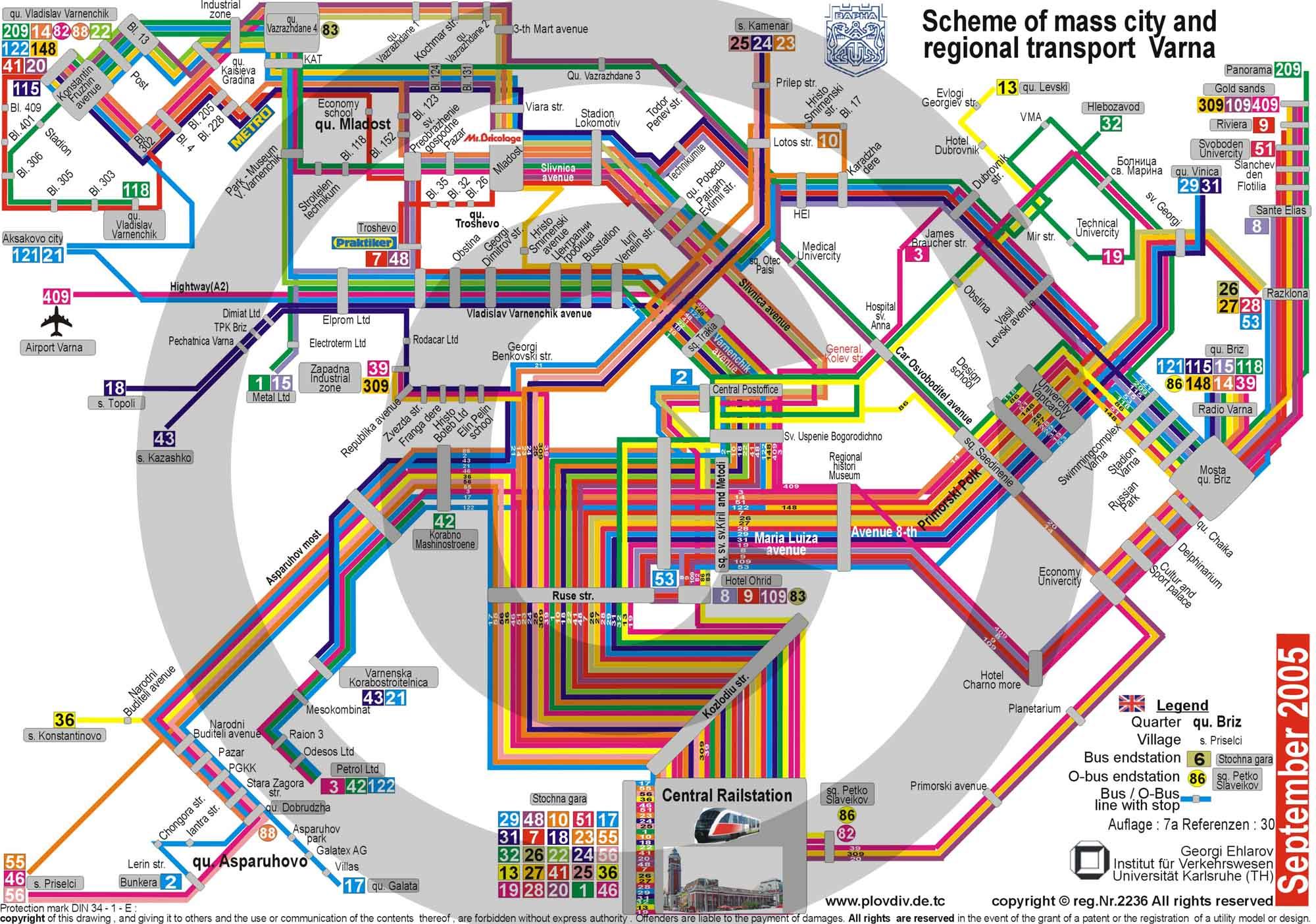 Varna Bulgaria Public Transportation Map Varna Bulgaria Mappery - Varna map