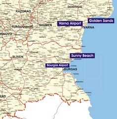Varna Location Map