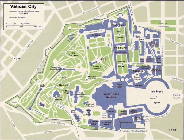 Vatican City Map  Vatican City  mappery
