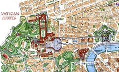 Vatican and surrounding area Map