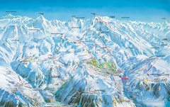 Vaujany Ski Trail Map