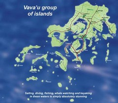 Vava'u Island group Map