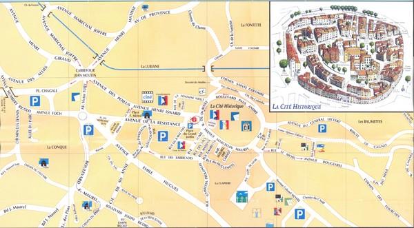 Vence - centre Map - Vence France • mappery on st. paul hotels map, saint paul de vence tourism, barra de navidad mexico map, saint remy de provence map, city of saint paul map, saint jean cap ferrat map,