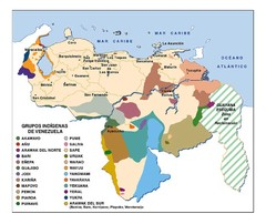 Venezuela Indigenes populations Map