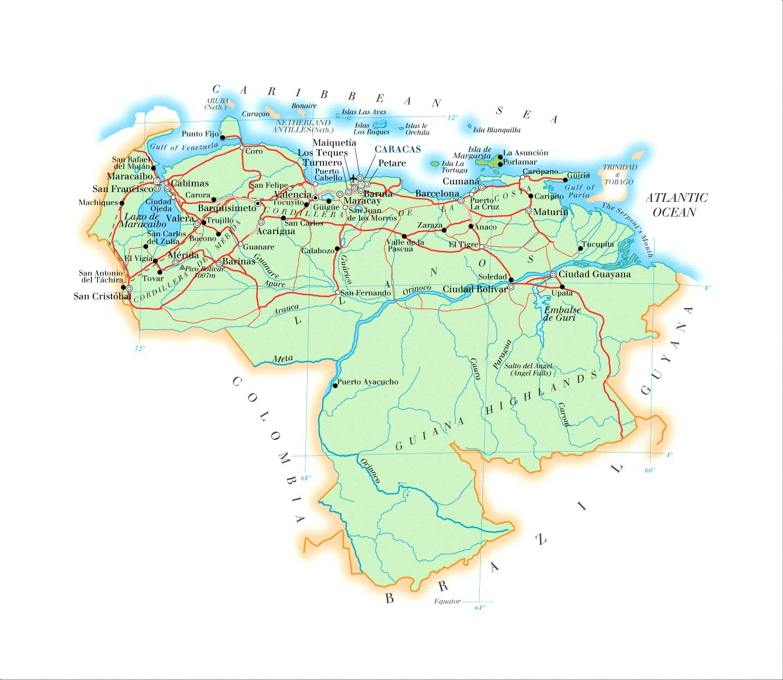 Venezuela Map Mappery - Venezuela map